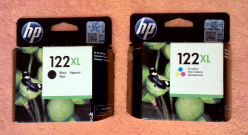 Как заправить картриджи HP 121, 122