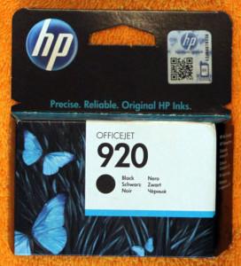 Черный картридж HP 920
