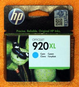 Картридж HP 920XL Cyan