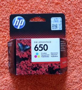 Цветной картридж HP 650