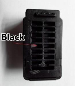 Отверстие для заправки черного картриджа PG-445