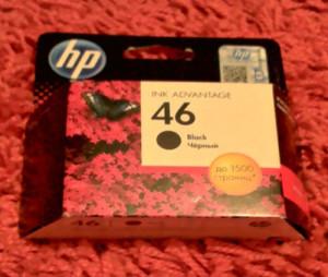 Черный картридж HP 46