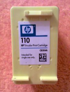 Как заправить картридж HP 110