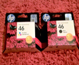 Картриджи HP 46 цветной и черный